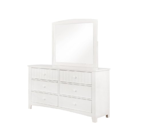 White 2-Piece Dresser and Mirror Set