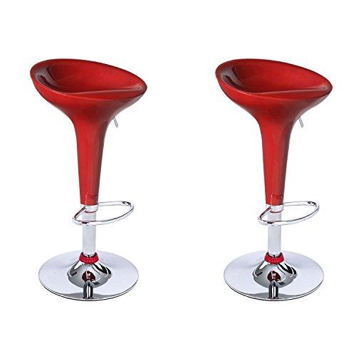modern bar stools red color