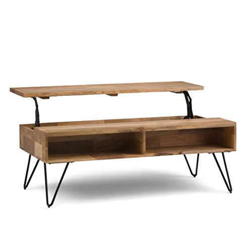 Wood Lift-Top Coffee Table, Natural
