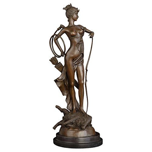 Nude Female Hunter Bronze Statue