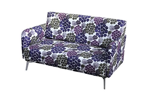 purple blue flower pattern loveseat