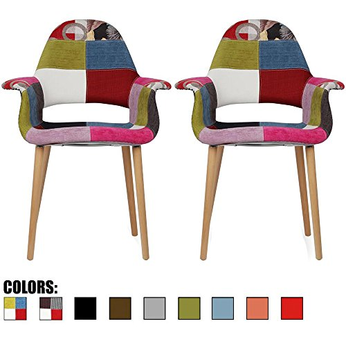 cute colorful patchwork pattern dining chairs