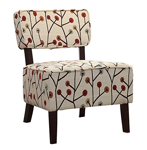 poppies print chair