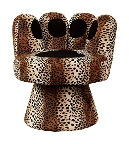 fun leopard print paw chair