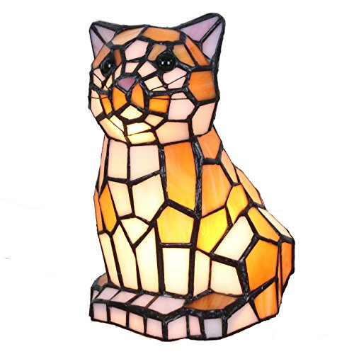 cute cat shaped glass lamp