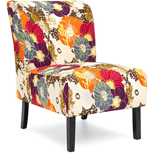 colorful flower print chair