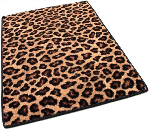 Leopard Print Area Rug for living room