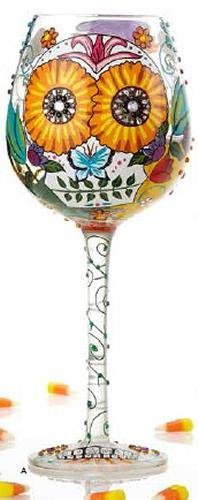 cute floral wine glass