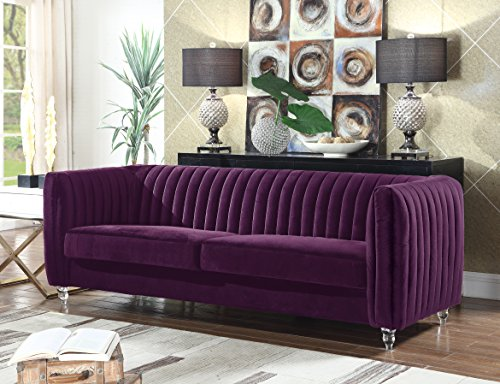 beautiful purple couch