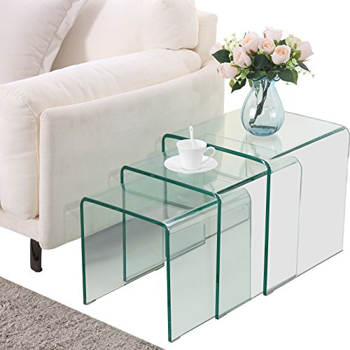 glass nesting tables for sale
