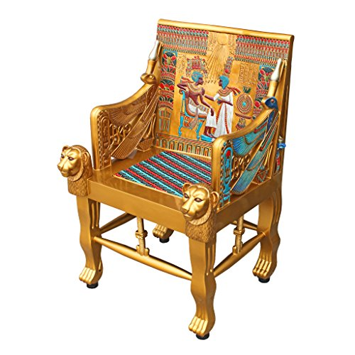 King Tutankhamen Egyptian Decor Throne Chair